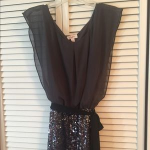 Sequin Charcoal Grey cocktail dress